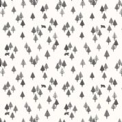 Lewis & Irene - Bear Hug - 6187 - Trees & Bears, Grey on Off White  - A313.2 - Cotton Fabric